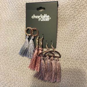 NWT tassel earrings set